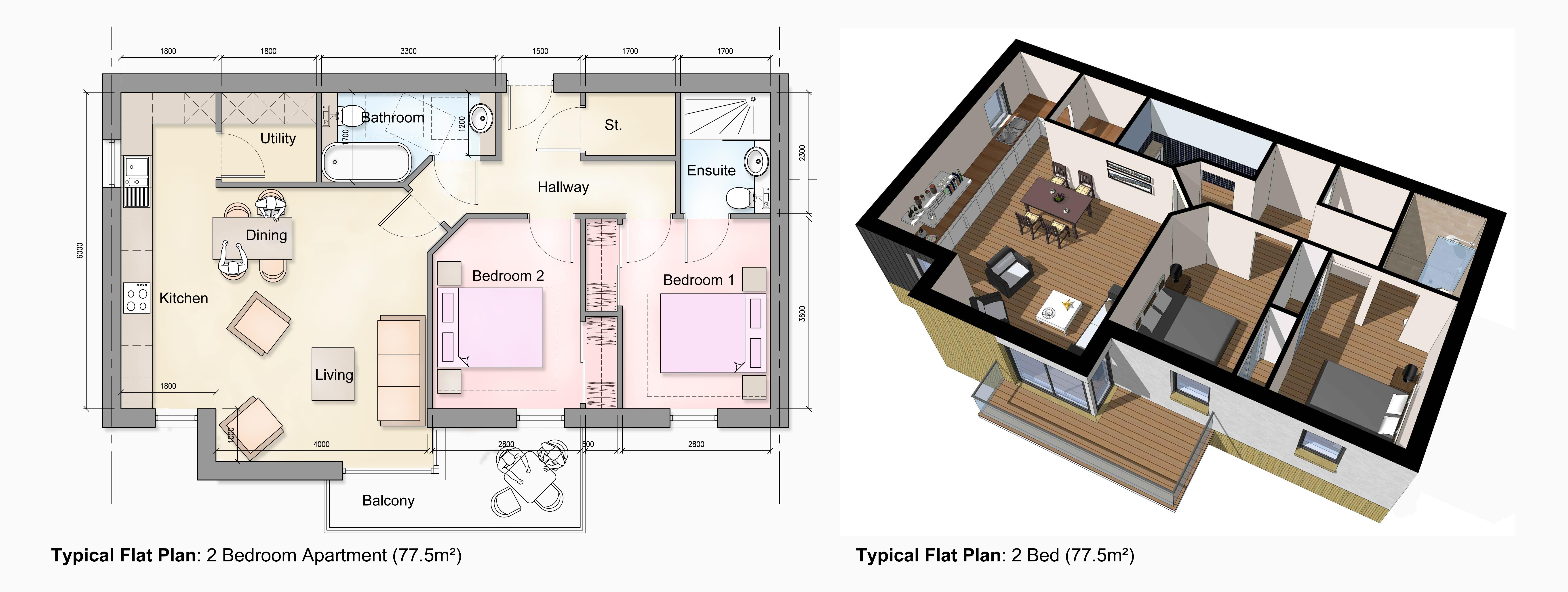 typical house plans uk